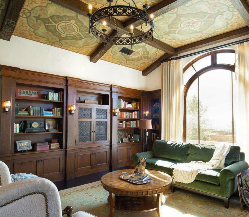 The Creatives Daily Presents artist Jeff Raum stenciled beams and ceiling art