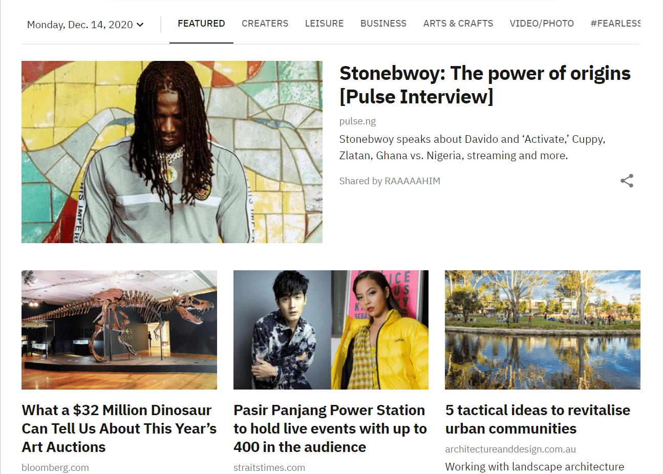 The Creatives Daily Headline Excerpt & Website Link