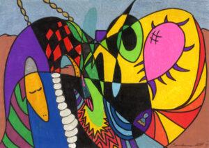 """Philadelphia Fine Artist Barbara Adler """"The Fisherman"""""""
